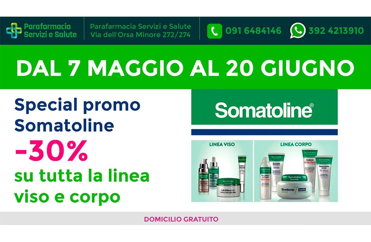Dal 7 MAGGIO al 20 GIUGNO - Speciale promo SOMATOLINE -30% su tutta la linea viso e corpo