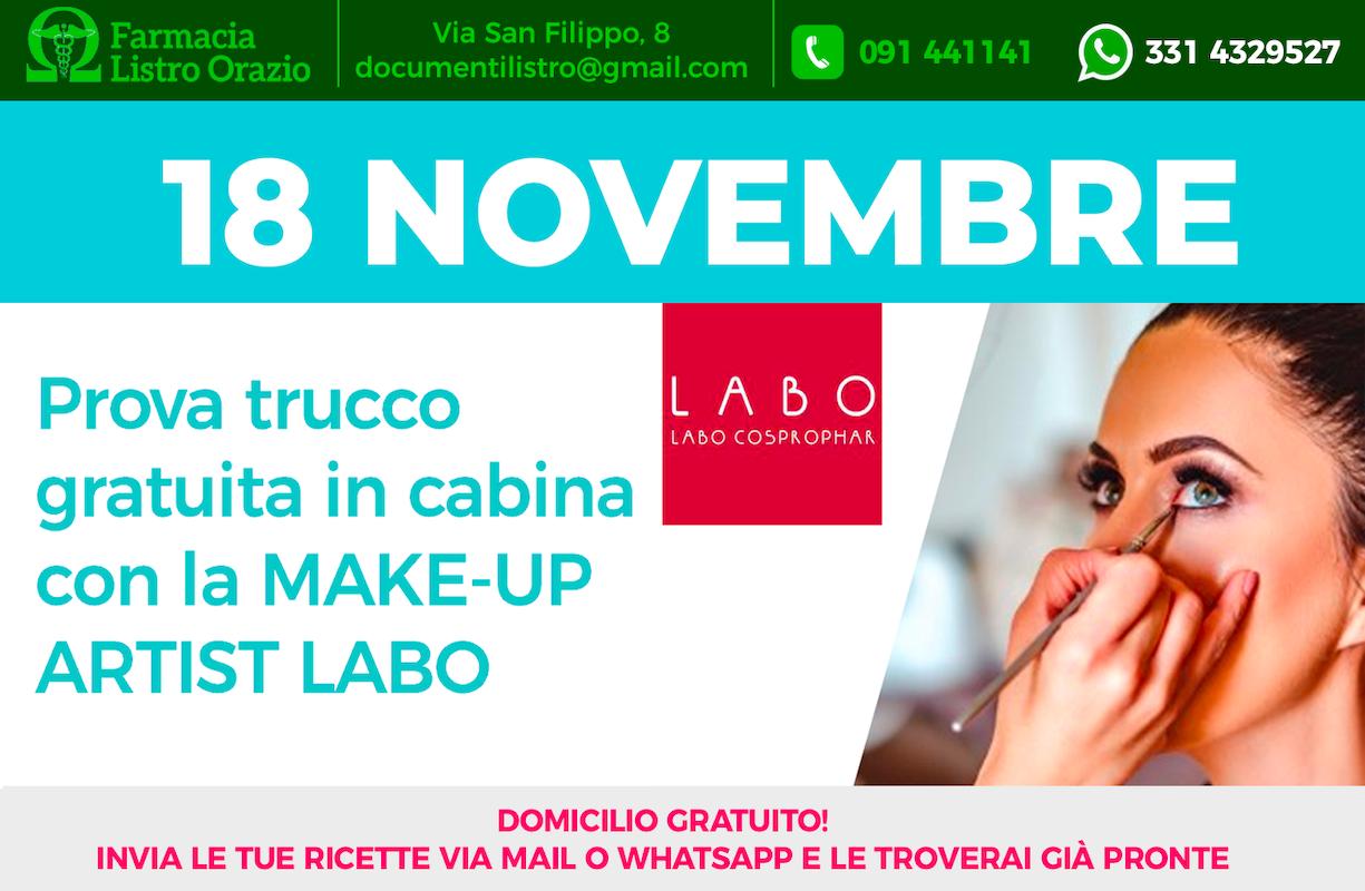 18 NOVEMBRE - Giornata evento MAKE-UP ARTIST LABO