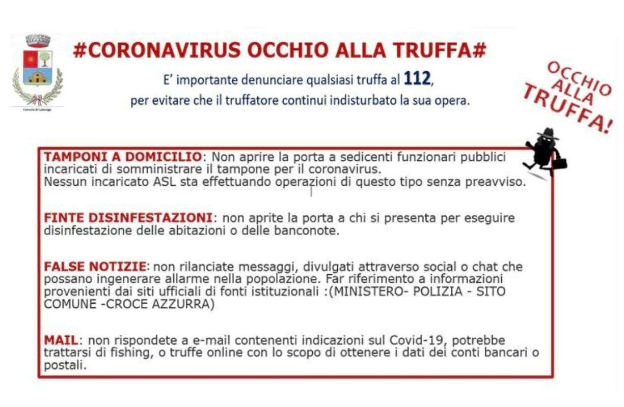 Coronavirus OCCHIO ALLA TRUFFA