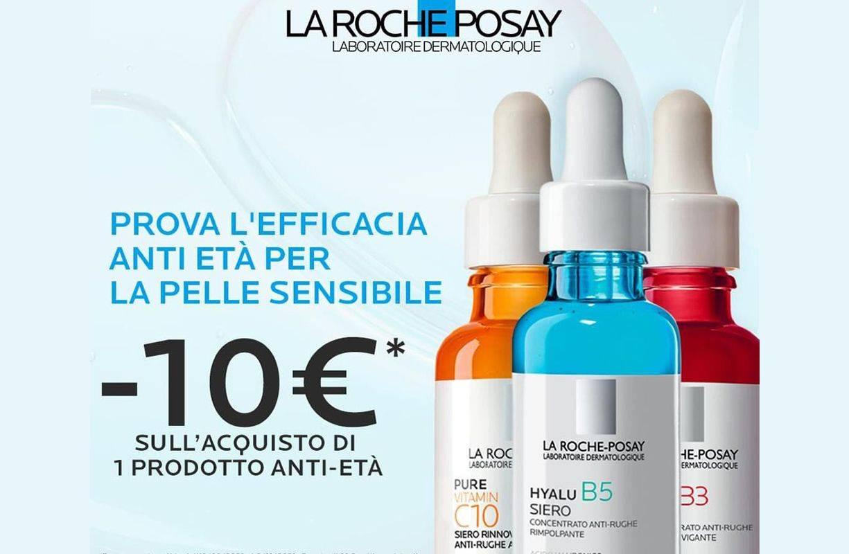 PROMOZIONE la Roche Posay -10€ sull'acquisto di 1 prodotto Anti Età