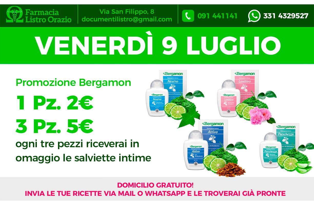 Venerdì 9 LUGLIO - Promozione BERGAMON