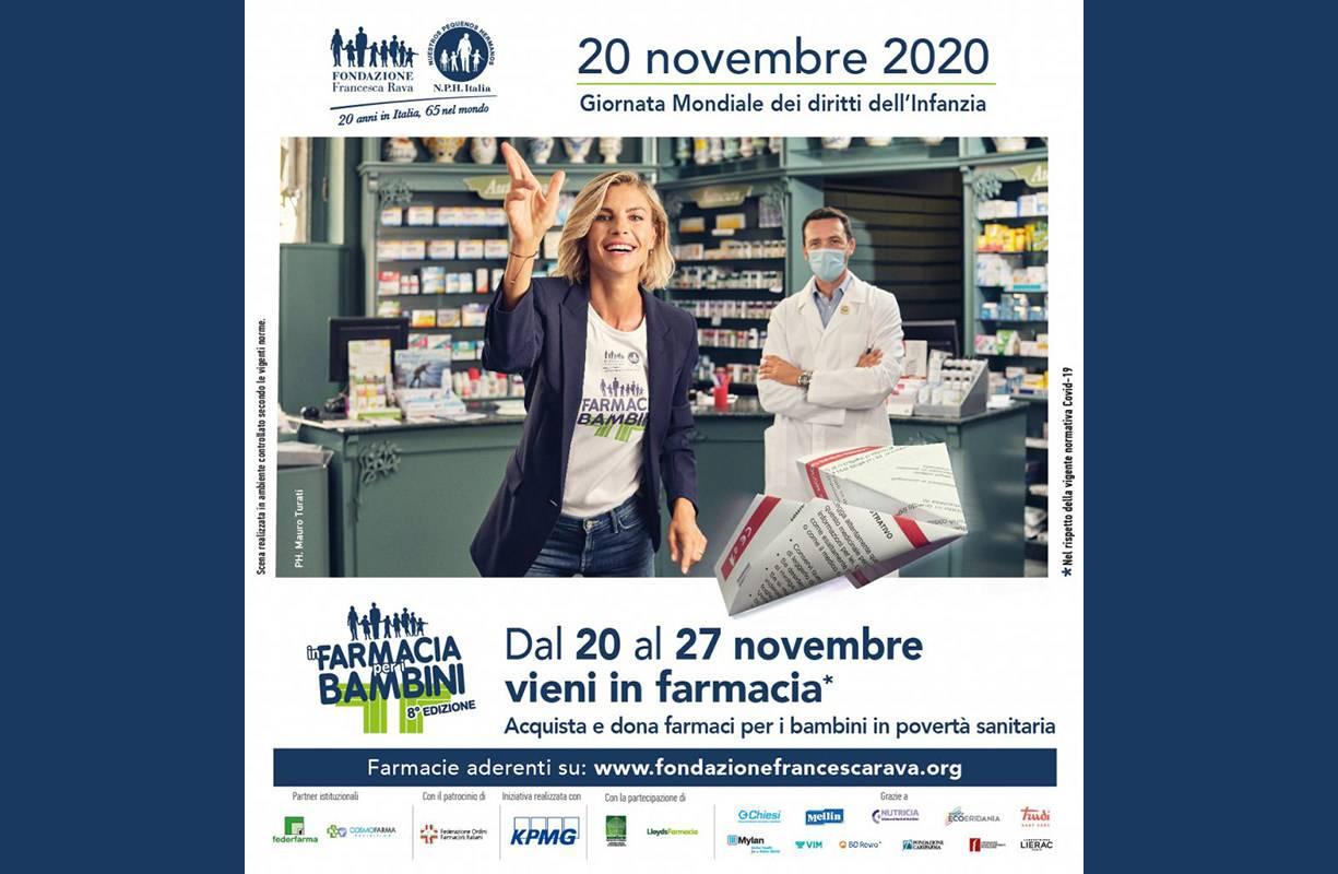 Dal 20 al 27 NOVEMBRE - In farmacia per i bambini 2020