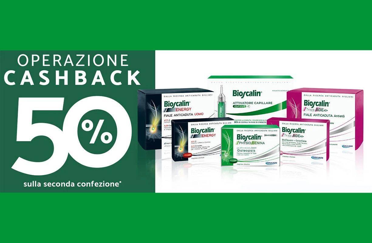 Per tutto MARZO Offerta Cashback Bioscalin 50%