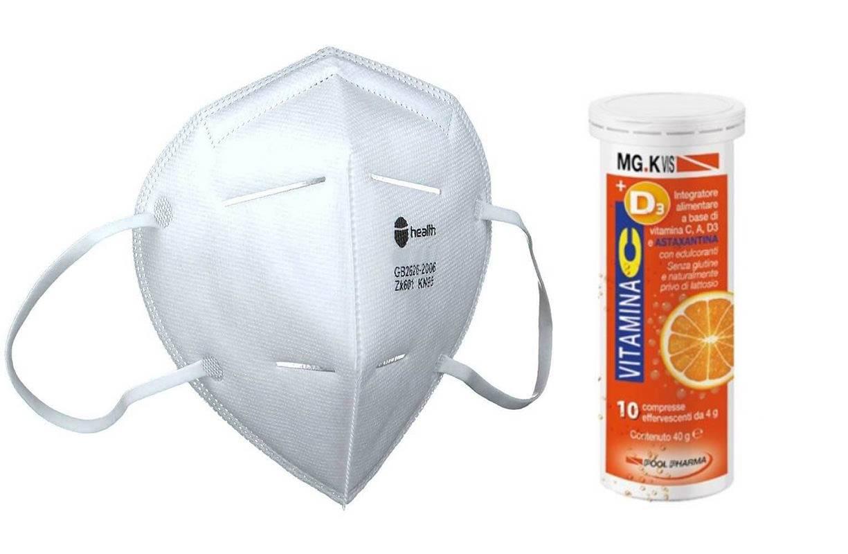 Mercoledì 24 MARZO - Prevenzione Covid Vit C/D  +2 mascherine FFP2 A SOLO €9.90