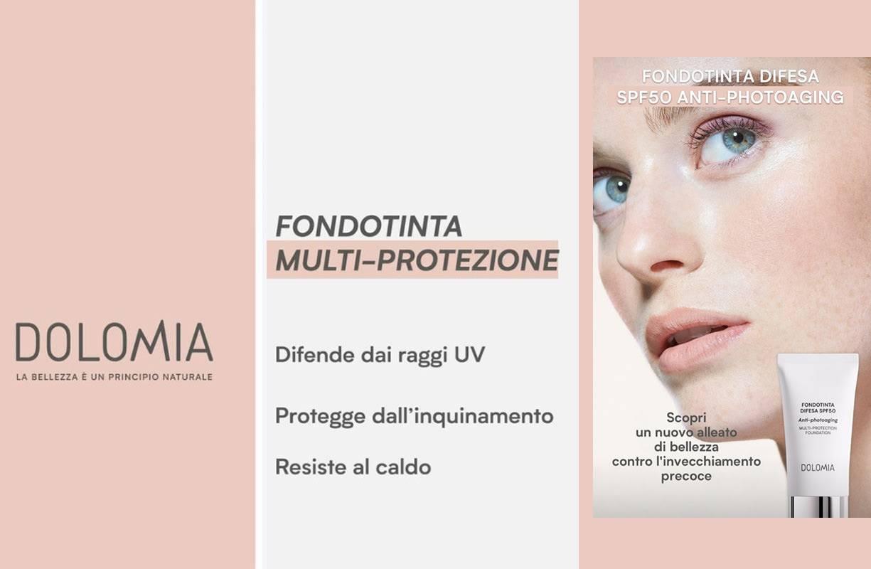 NOVITA' DOLOMIA MAKE UP - FONDOTINTA DIFESA SPF 50 ANTI-PHOTOAGING