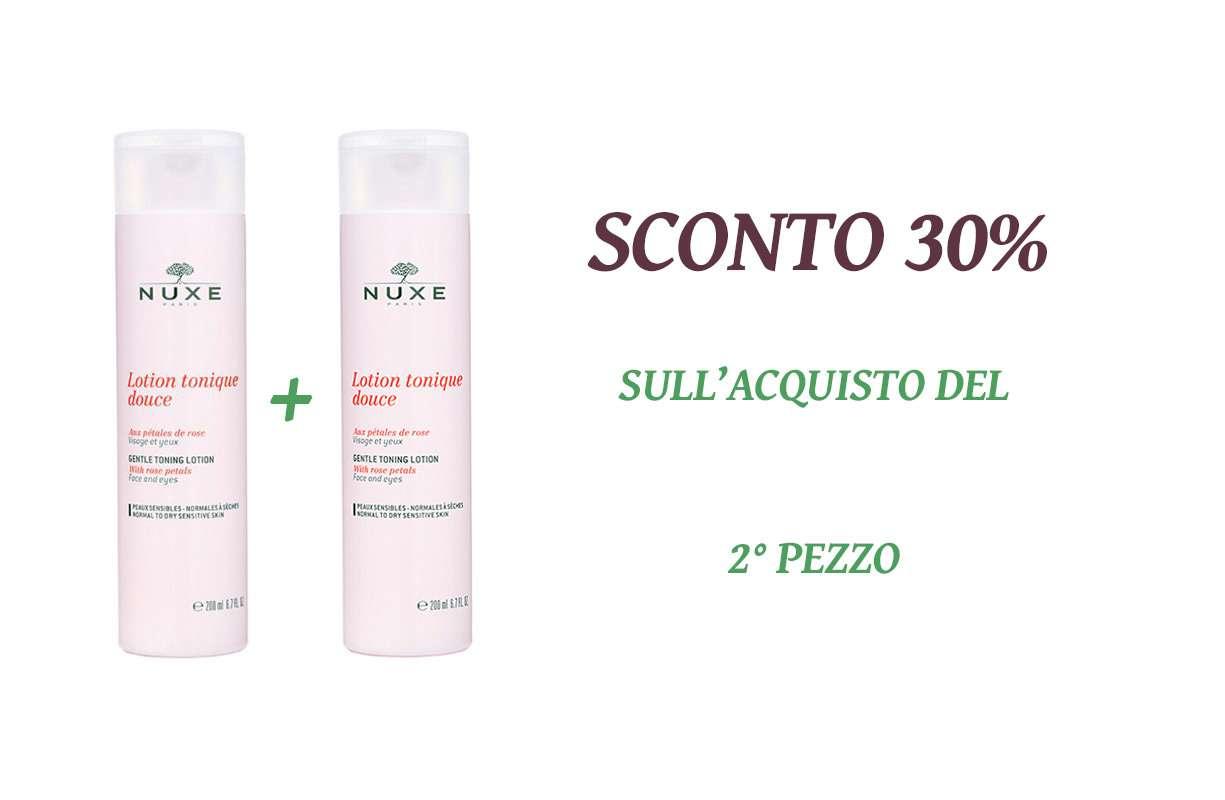 OFFERTA Nuxe - acquistando 1 tonico il secondo prodotto scontato del 30%