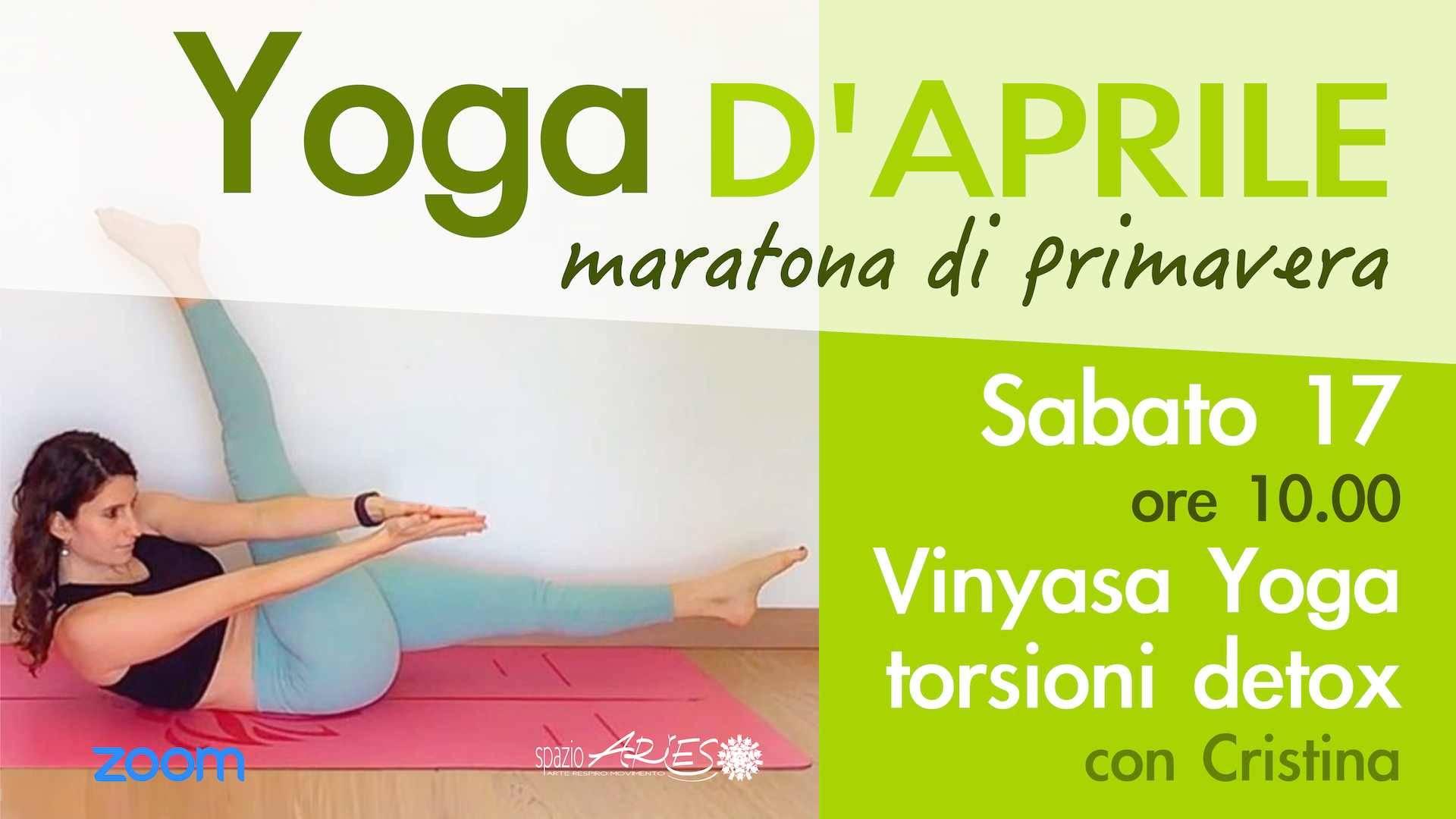 Vinyasa Yoga: torsioni detox della primavera con Cristina