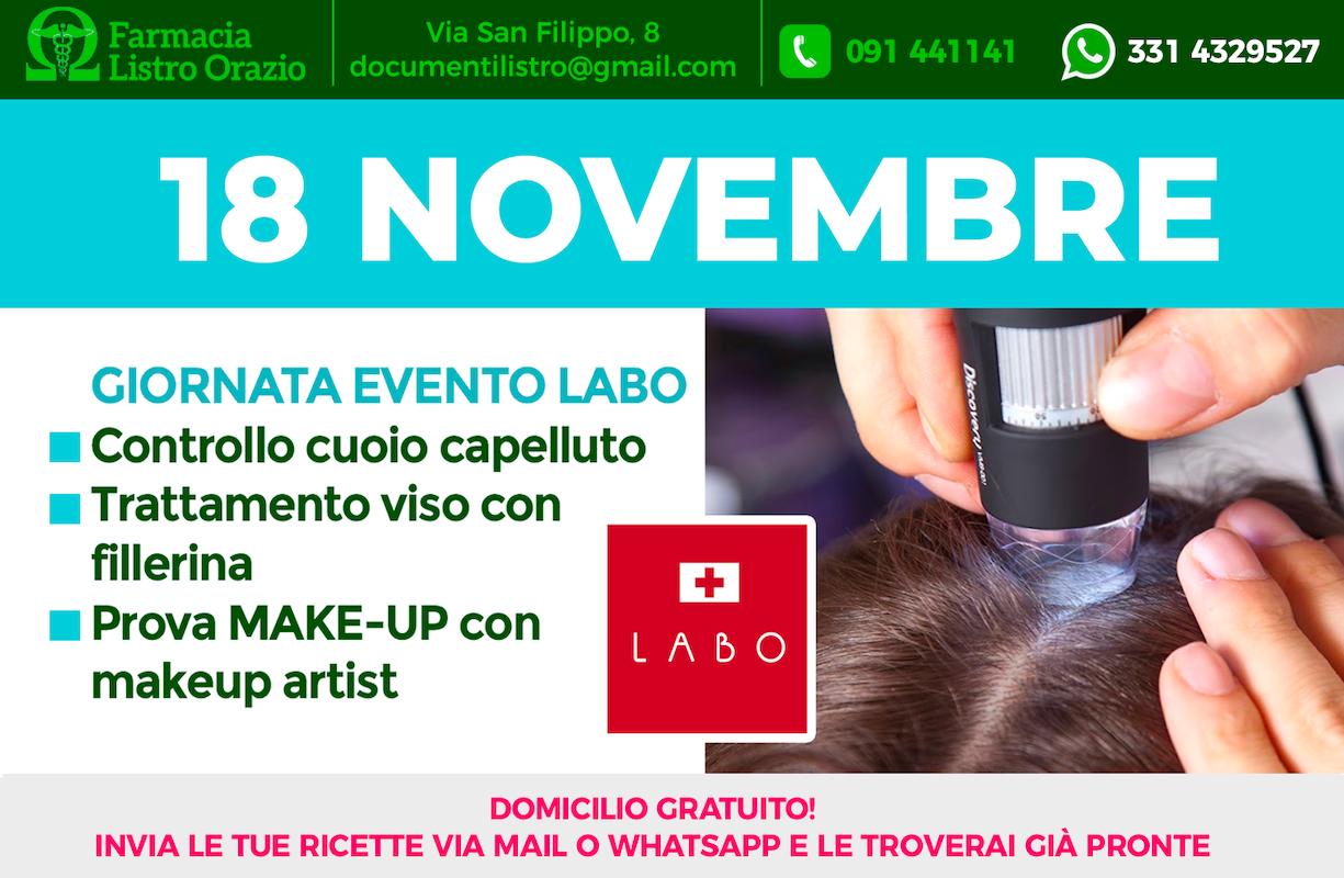 18 NOVEMBRE - Giornata evento LABO