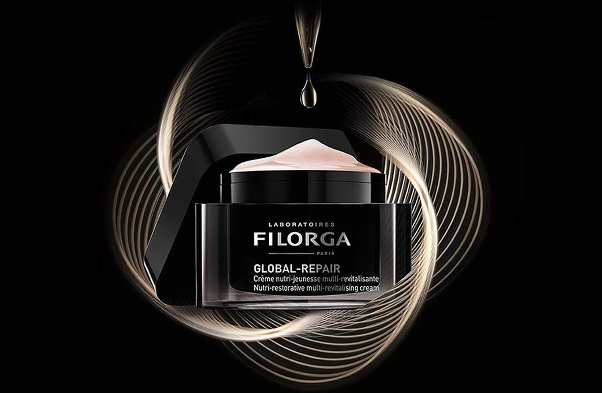 GLOBAL-REPAIR FILORGA con OMAGGIO la Pochette in tweed contenente la MESO MASK 15ml