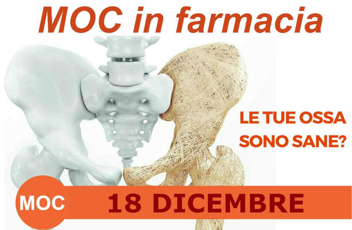 Martedì 18 DICEMBRE - MOC in farmacia