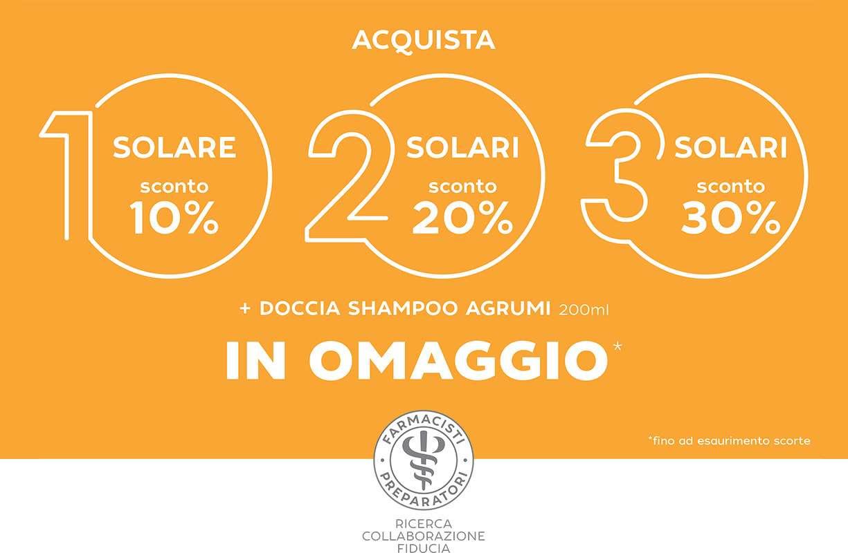 PROMOZIONE su tutti i solari della linea Farmacisti Preparatori