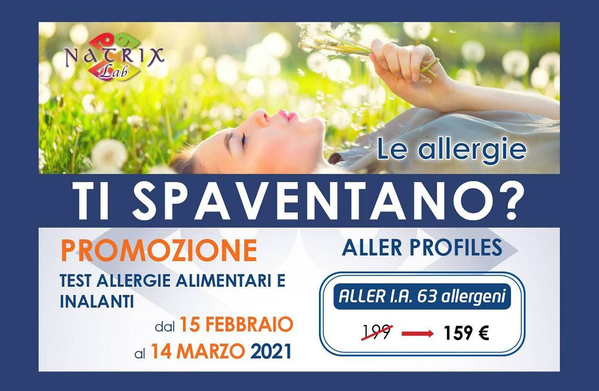 Dal 15 FEBBRAIO al 14 MARZO - TEST NATRIX ALLERGIE Conosci le tue allergie