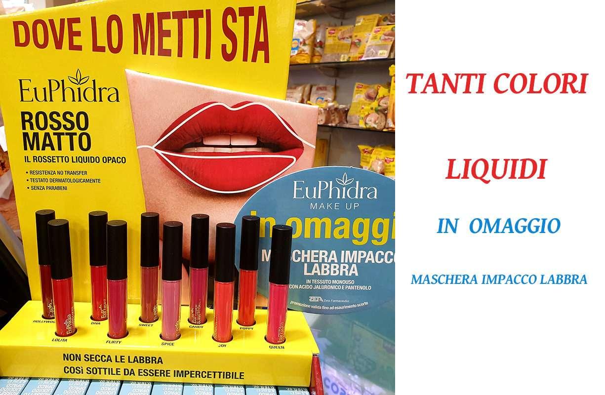 NOVITA' Euphidra rossetto matto + in OMAGGIO maschera impacco labbra