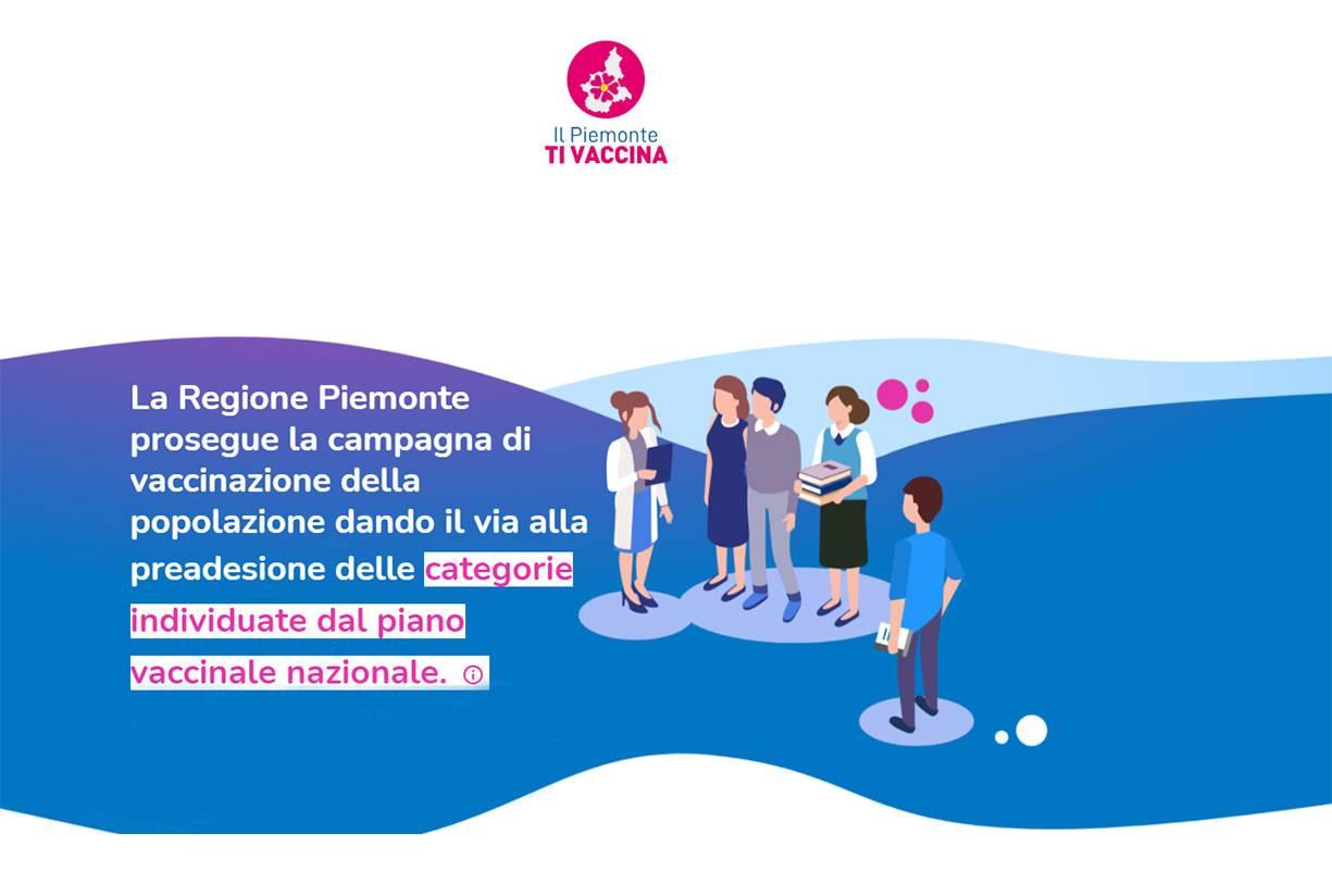 Servizio di Assistenza alla prenotazione dei Vaccini sulla piattaforma della Regione Piemonte