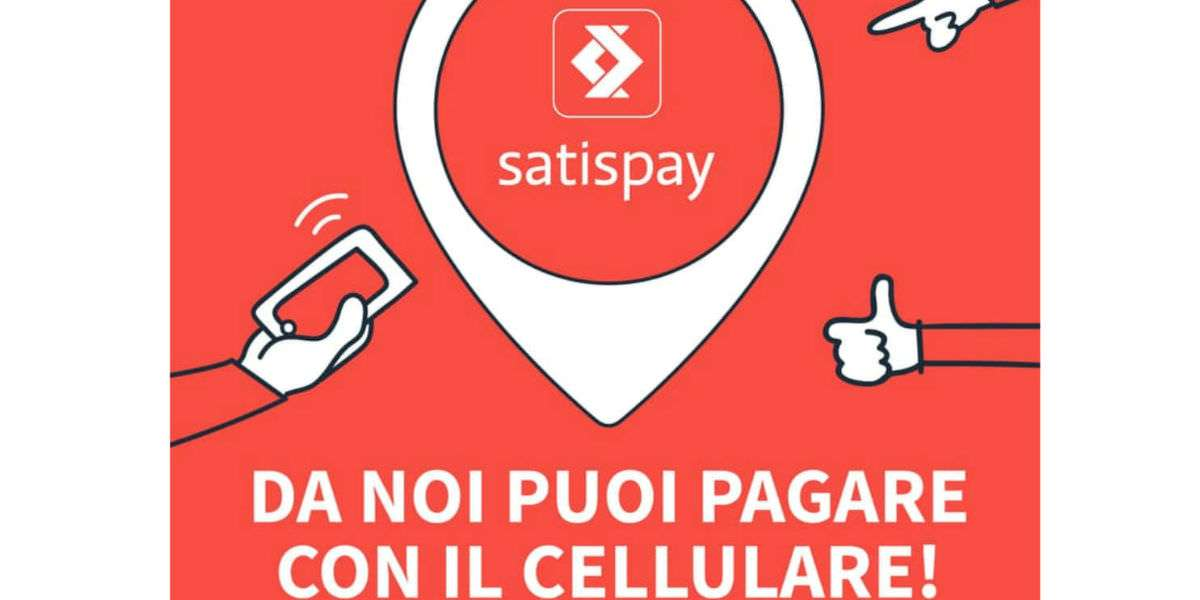 Da noi puoi pagare con un click dal tuo cellulare grazie a Satispay!