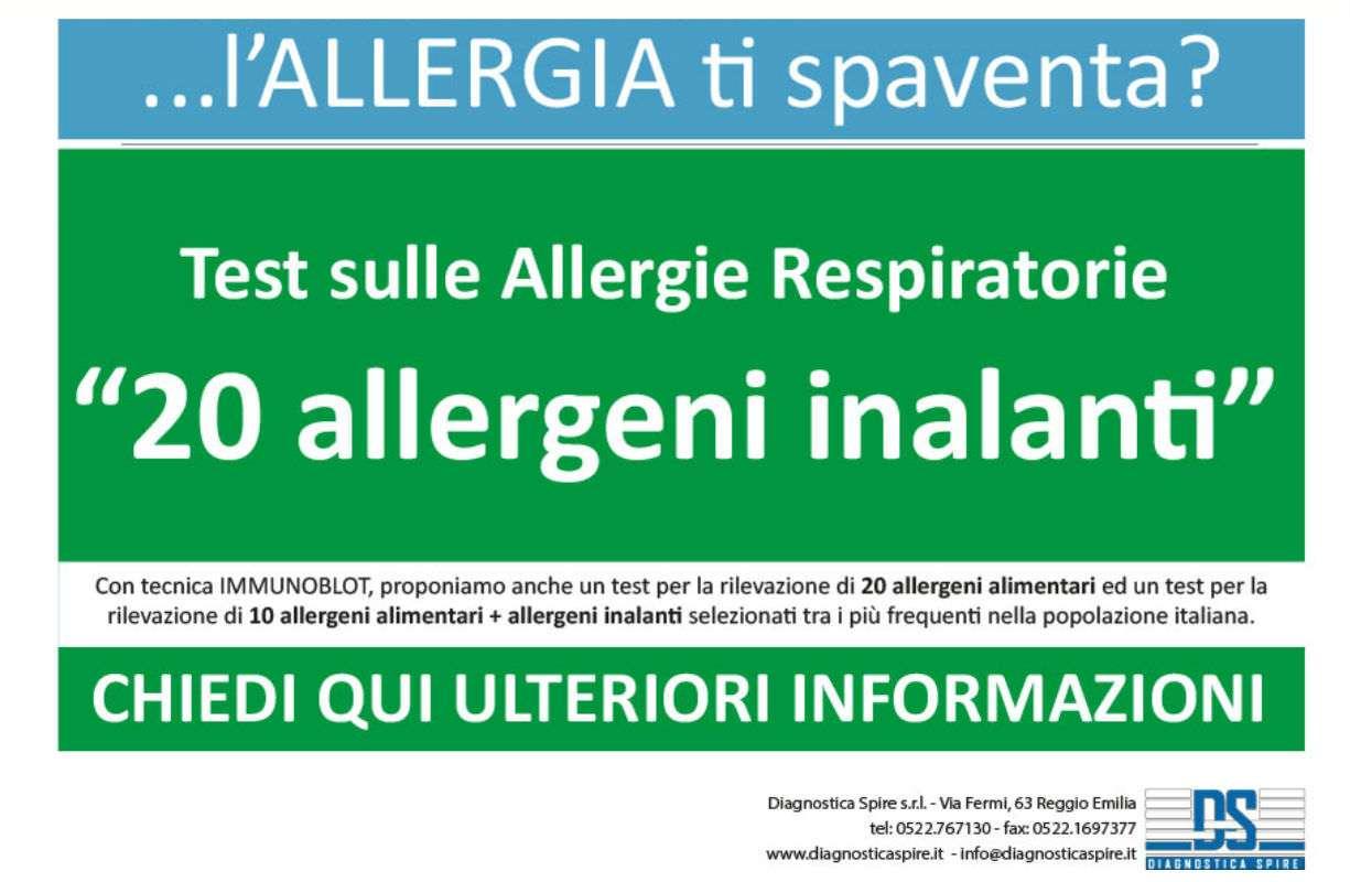 NUOVO servizio in farmacia - TEST SULLE ALLERGIE ALIMENTARI