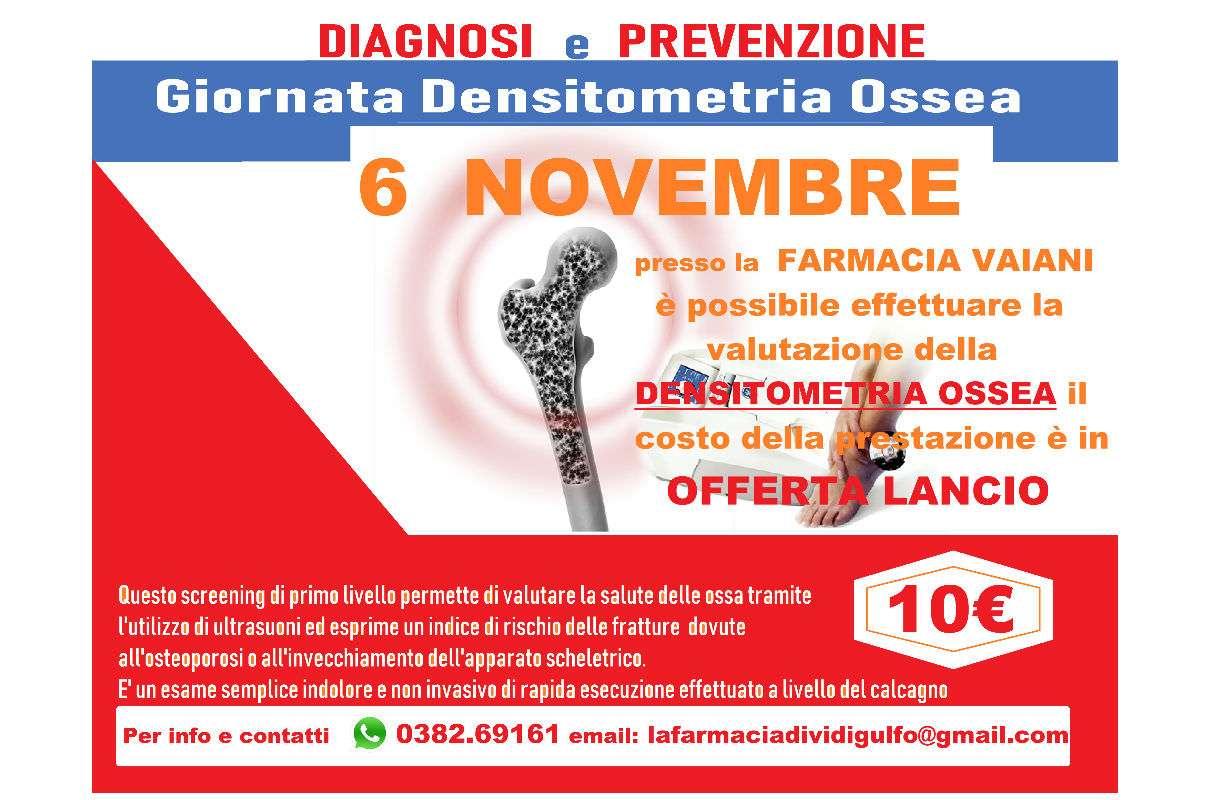Mercoledì 6 NOVEMBRE - Giornata densitometria ossea