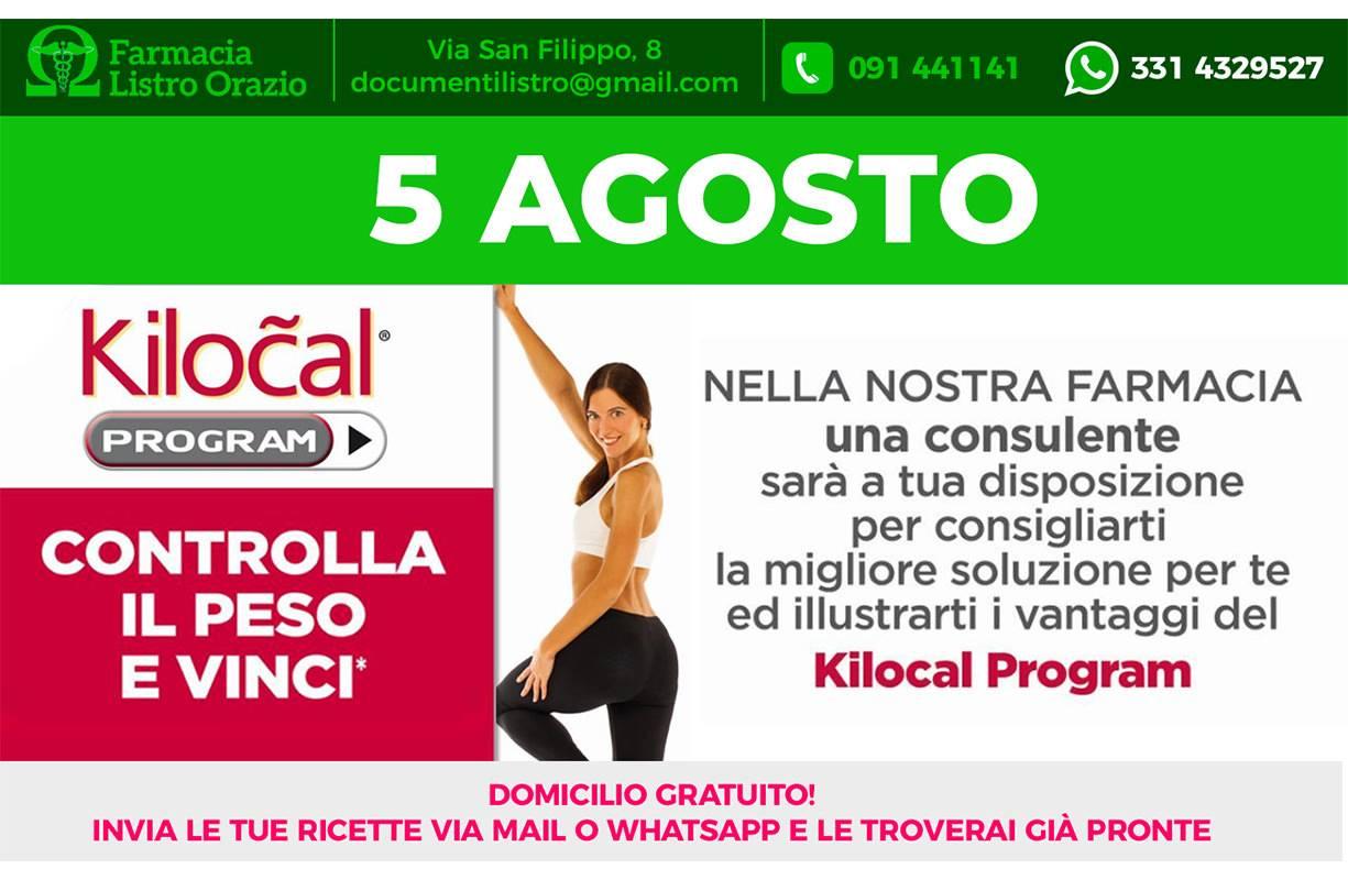 5 AGOSTO - KILOCAL PROGRAM