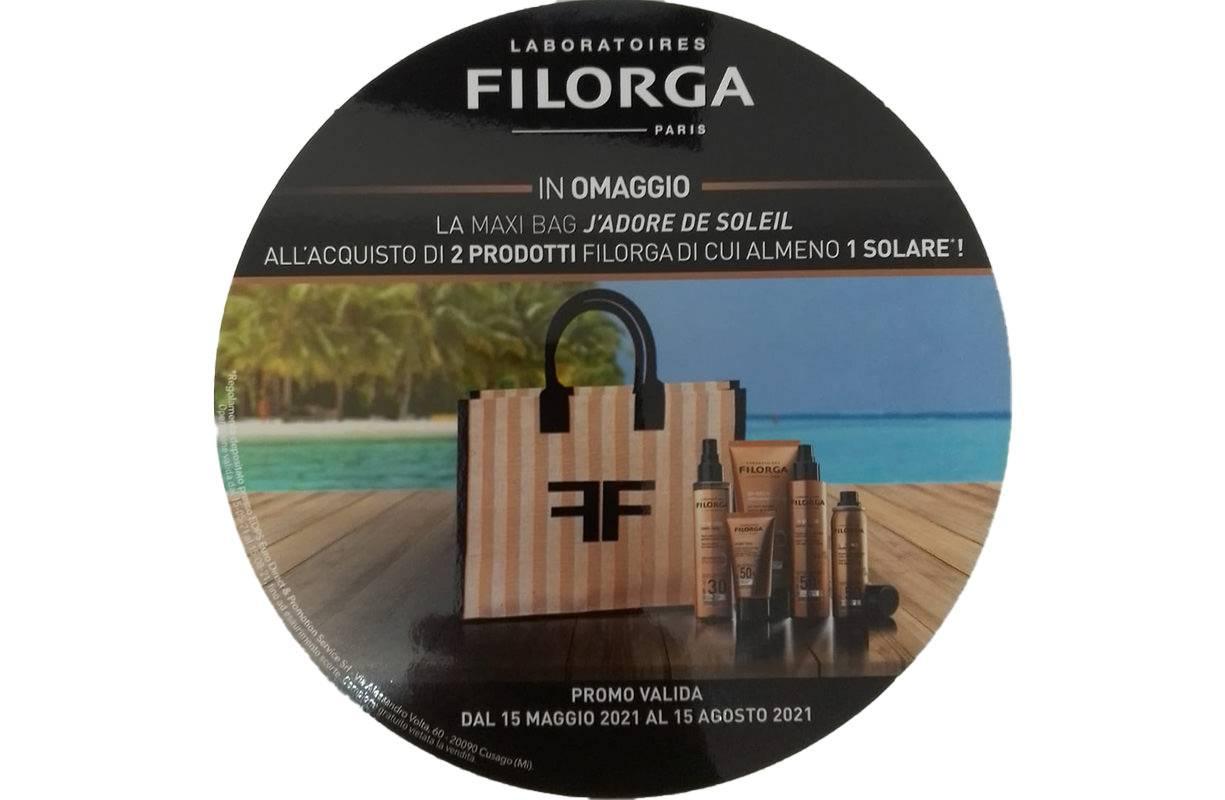 Dal 15 MAGGIO al 15 AGOSTO - Promo solari FILORGA in OMAGGIO la maxi bag