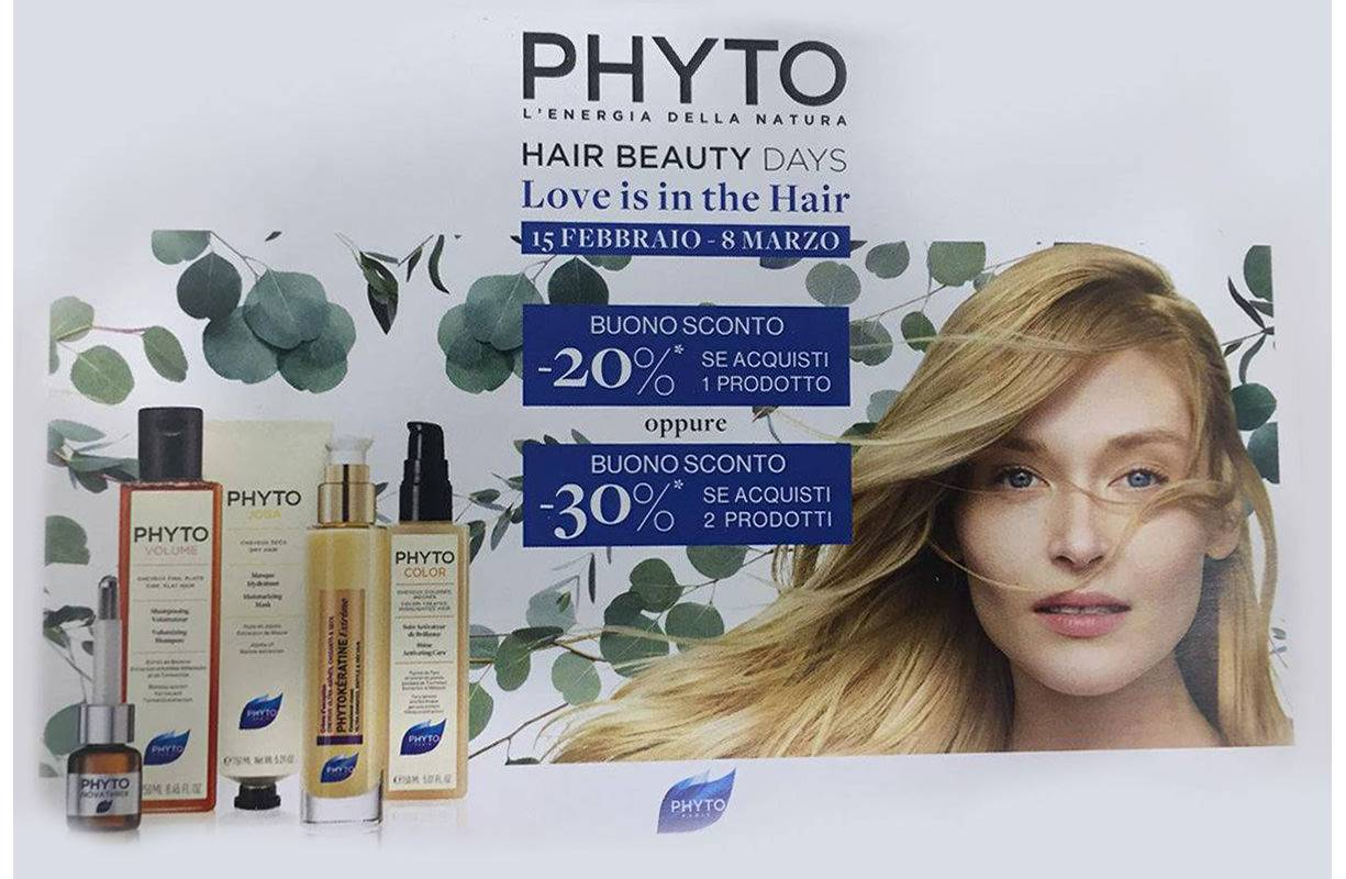 Dal 15 FEBBRAIO al 8 MARZO - Hair beauty day con PHYTO
