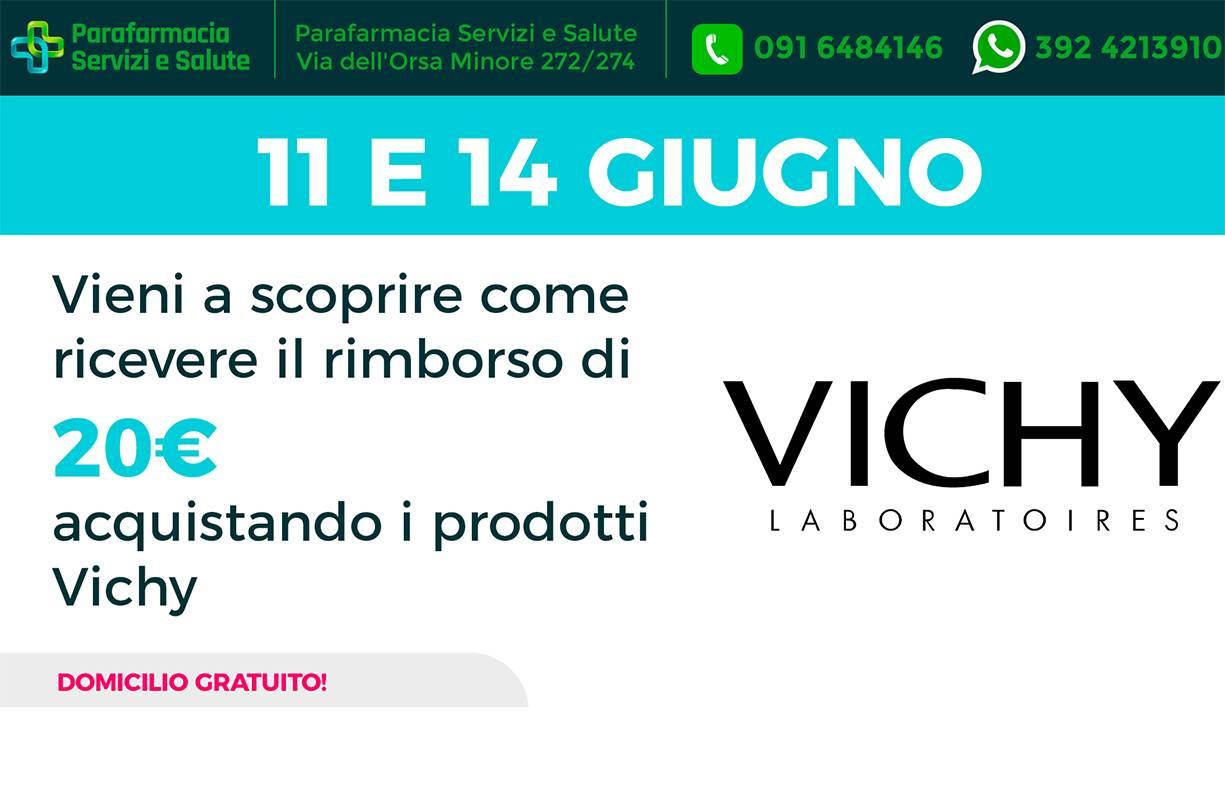 11 e il 14 GIUGNO - Vieni a scoprire come ricevere il rimborso di 20€ acquistando i prodotti Vichy