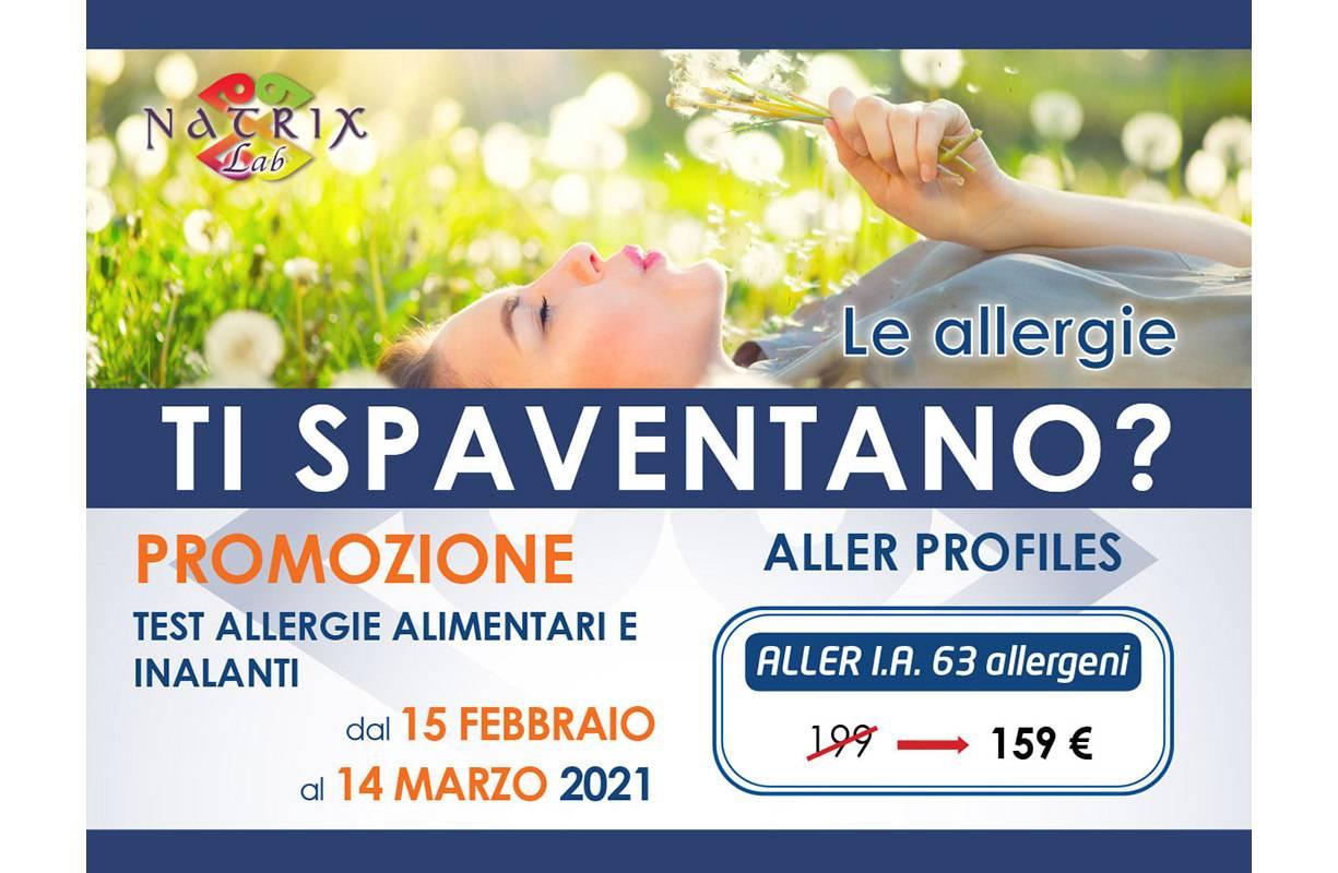 Dal 15 FEBBRAIO al 14 MARZO - Promozione test allergie alimentari e inalanti