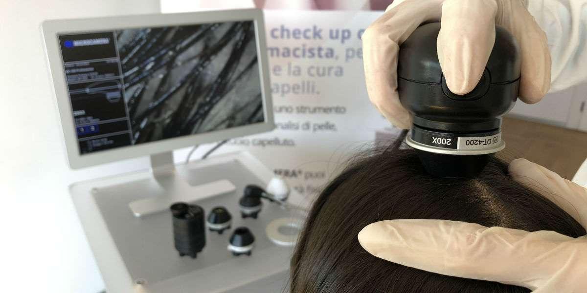 Analisi capello con telecamera palmare