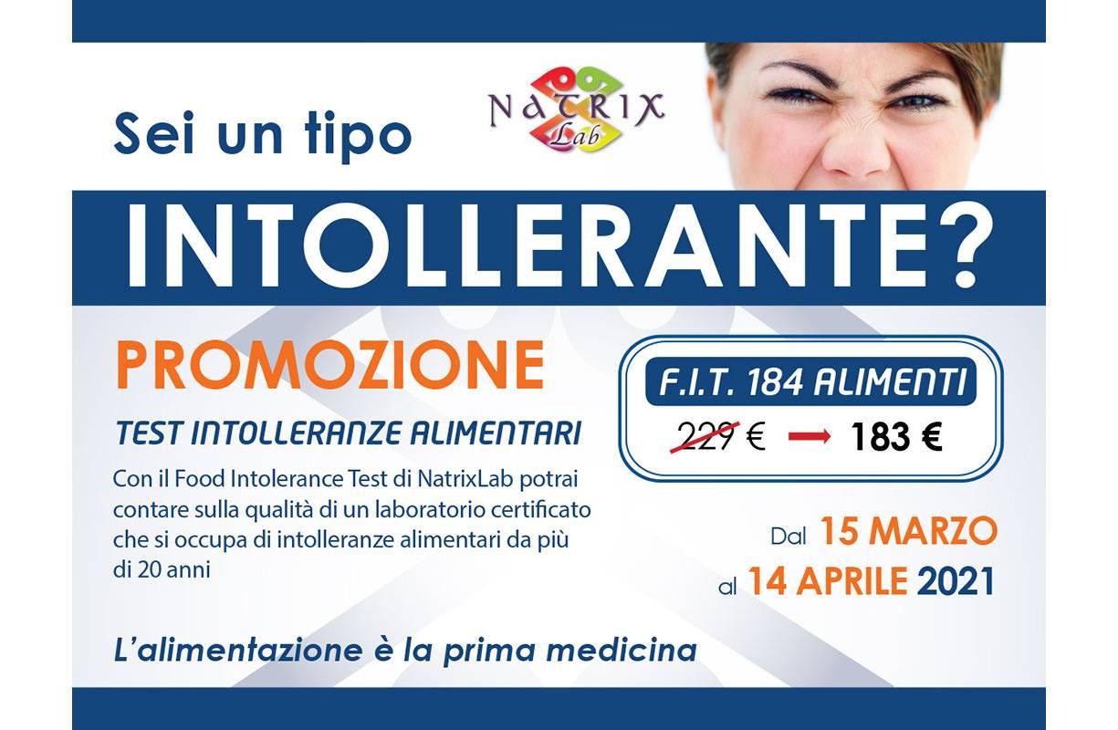 Mercoledì 14 APRILE - TEST NATRIX ALLERGIE Conosci le tue allergie