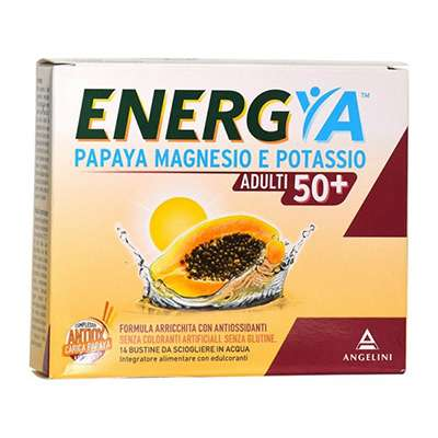 Energya papaya magnesio potassio 50+ 14 bustine
