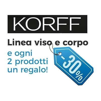 KORFF VISO/CORPO SCONTO 30% CON 2 PRODOTTI 1 OMAGGIO