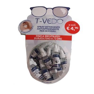 T-VEDO spray detergente antiappannante per occhiali