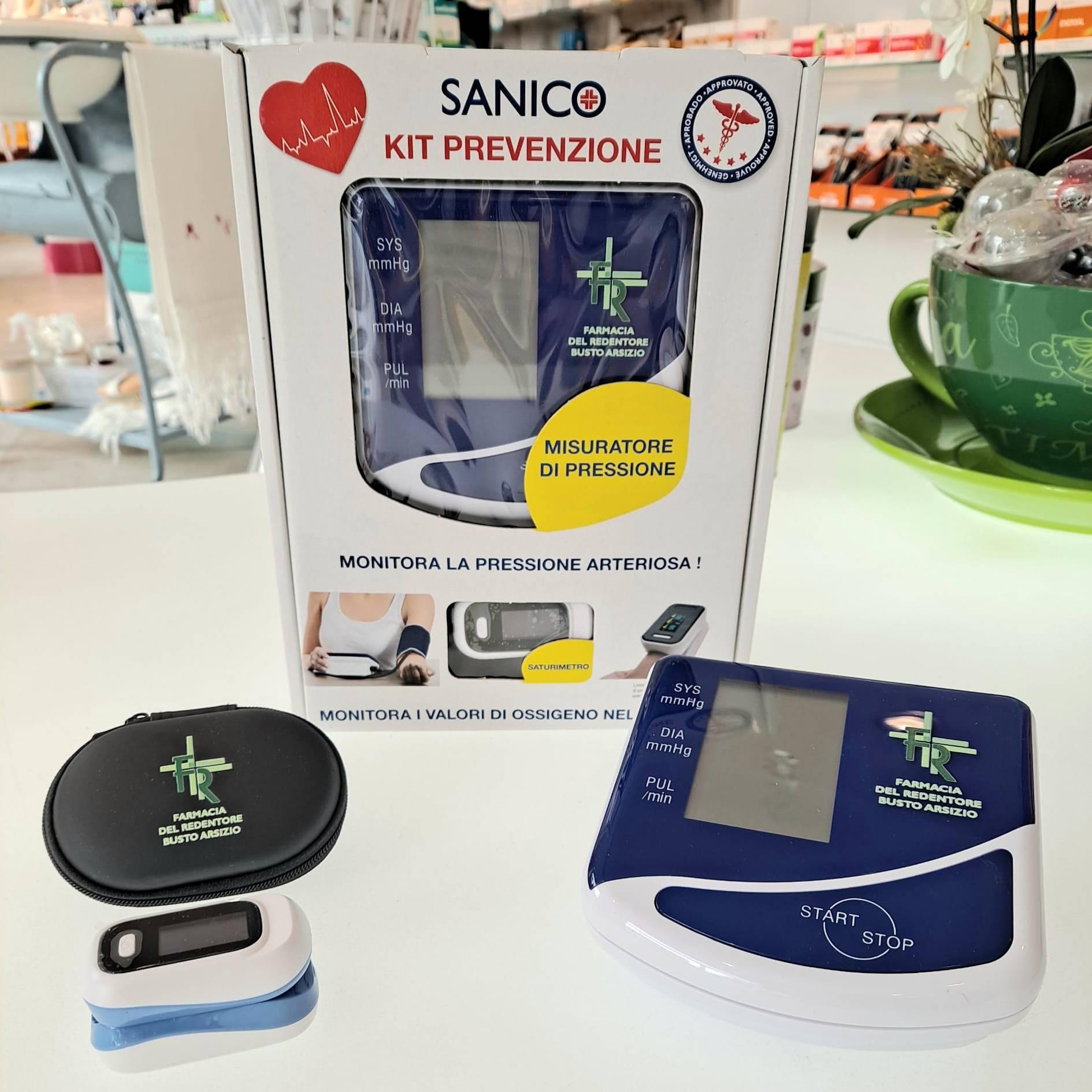 Kit prevenzione misuratore pressione e saturimetro