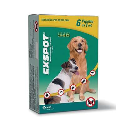 Exspot spot on cani 6 pipette da 1ml