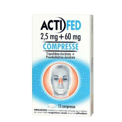Actifed 2,5mg + 60mg - 12cpr