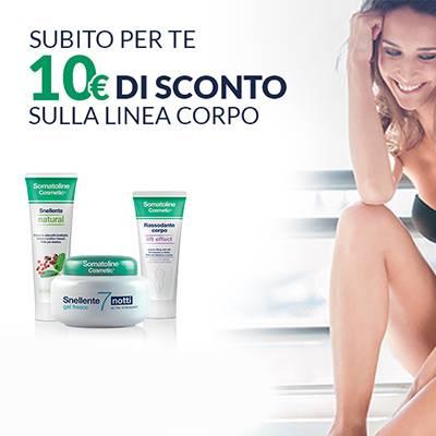 Somatoline Cosmetic SCONTO €10 sulla linea body