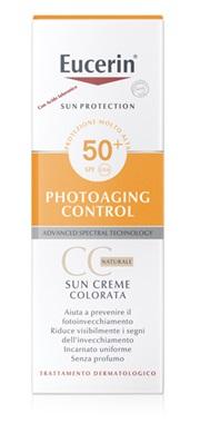EUCERIN SUN CC CREAM CREMA VISO COLORATA FP50+ 50ML