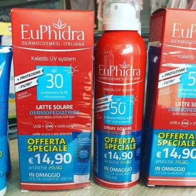 EUPHIDRA SOLARI + doccia bronze fixage 100ml OMAGGIO