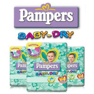 PAMPERS BABY DRY pannolini e BABY DRY mutandina