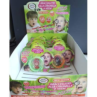 kids braccialetti antizanzara alla citronella e neem