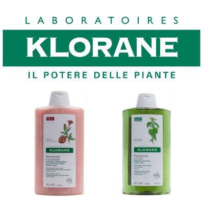 KLORANE SHAMPOO 400 ml fragranze assortite