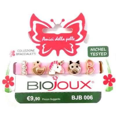 BIOJOUX BRACCIALETTO ROSE SIL C/CHARMS
