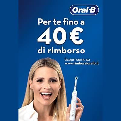 OralB Cashback fino a 40€ di rimborso