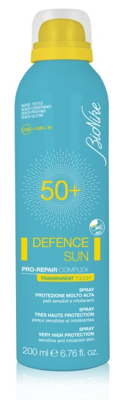 BIONIKE DEFENCE SUN SPRAY TRANSAPERENT TOUCH SPF50+ 200ML