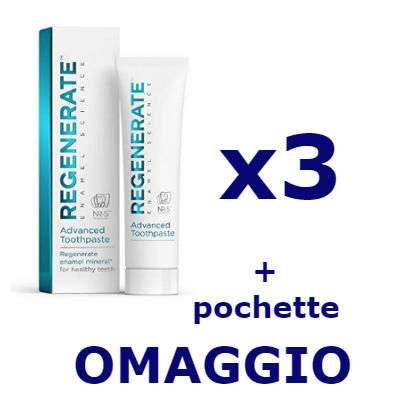 Regenerate 3 dentifrici + pochette OMAGGIO