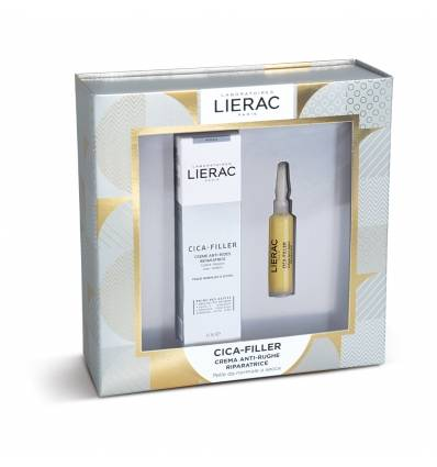 LIERAC COFANETTO CICA-FILLER GEL-CREMA ANTI-RUGHE RIPARATORE 40ML+ SIERO ANTI-RUGHE RIPARATORE 10ML