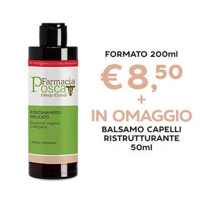 PROMO DEL MESE - Fisioshampoo delicato 200ml + in OMAGGIO balsamo capelli ristrutturante 50ml