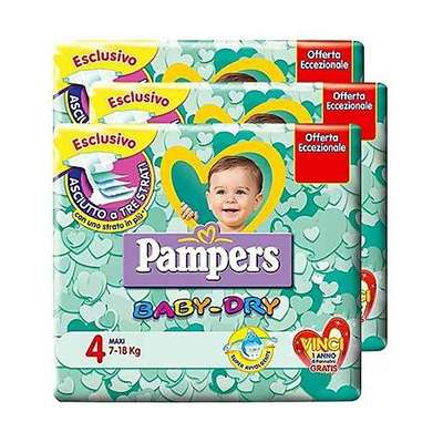 Pampers Baby-dry pacco triplo