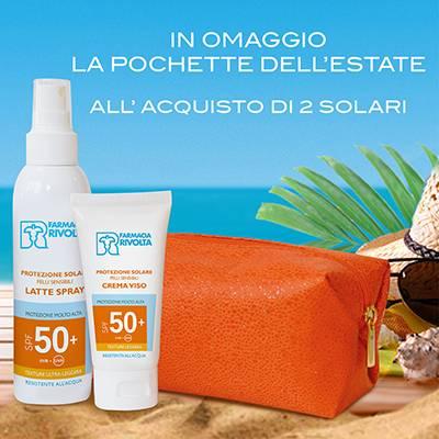 Pochette OMAGGIO acquistando 2 solari