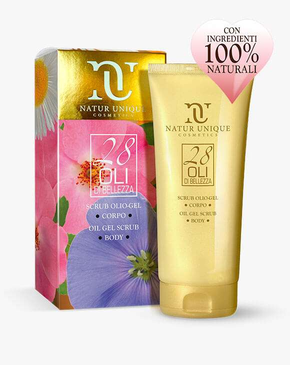 NATUR UNIQUE 28 OLII SCRUB OLIO GEL 200ML