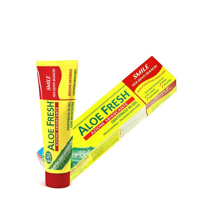 Aloe fresh azione sbiancante dentifricio